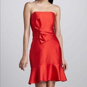 Kate Spade Red Justina BowWaist Strapless Dress 10